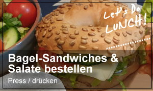 Bagel-Sandwiches, Paninis, Burgers & Salate